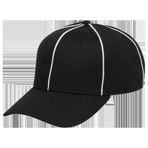 Black & White Official's Cap Mesh