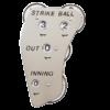 Indicator-Markwort 4 wheel Stainless Steel